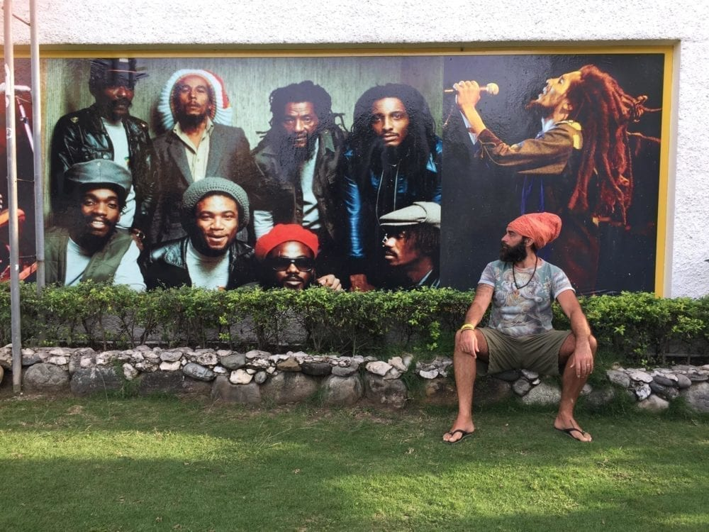 Jarvis Smith at the Bob Marley museum, Jamaica