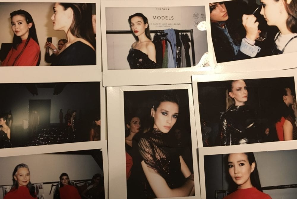 Martina's backstage shots at the Paula Knorr presentation