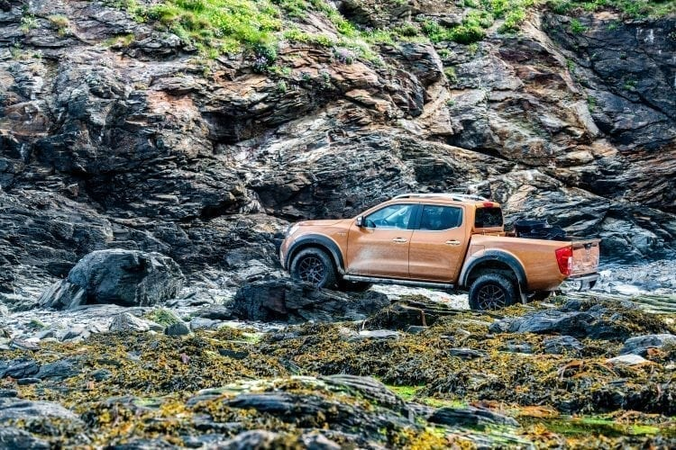 The Nissan Navara went well and truly off road