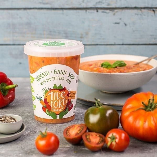 Tideford Organics Tomato and Basil Soup with Red Peppers and Miso