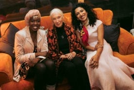 Emi Mahmoud, Jane Goodall and Trisha Shetty