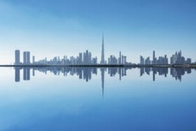 Urban skyline in Dubai